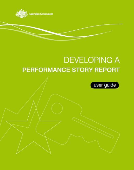 Developing a performance story report