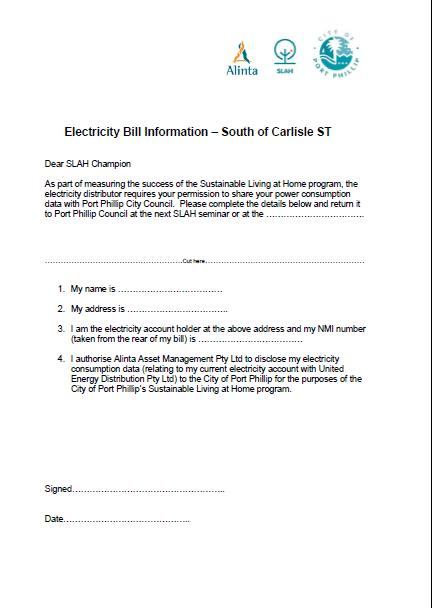 SLAH Electricity Consent Form
